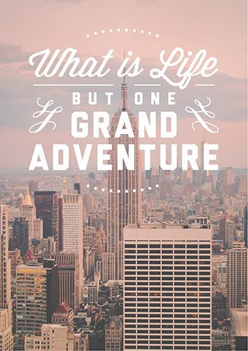 Superb REALLY Want A Giant Print Like This To Hang On The Wall In My Apartment! /  What Is Life But One Grand Adventure   DIY Printable Quote Poster On Etsy