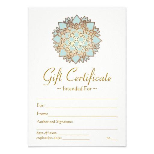 Natural Health Spa Lotus Flower Printed Gift Certificate Template ...
