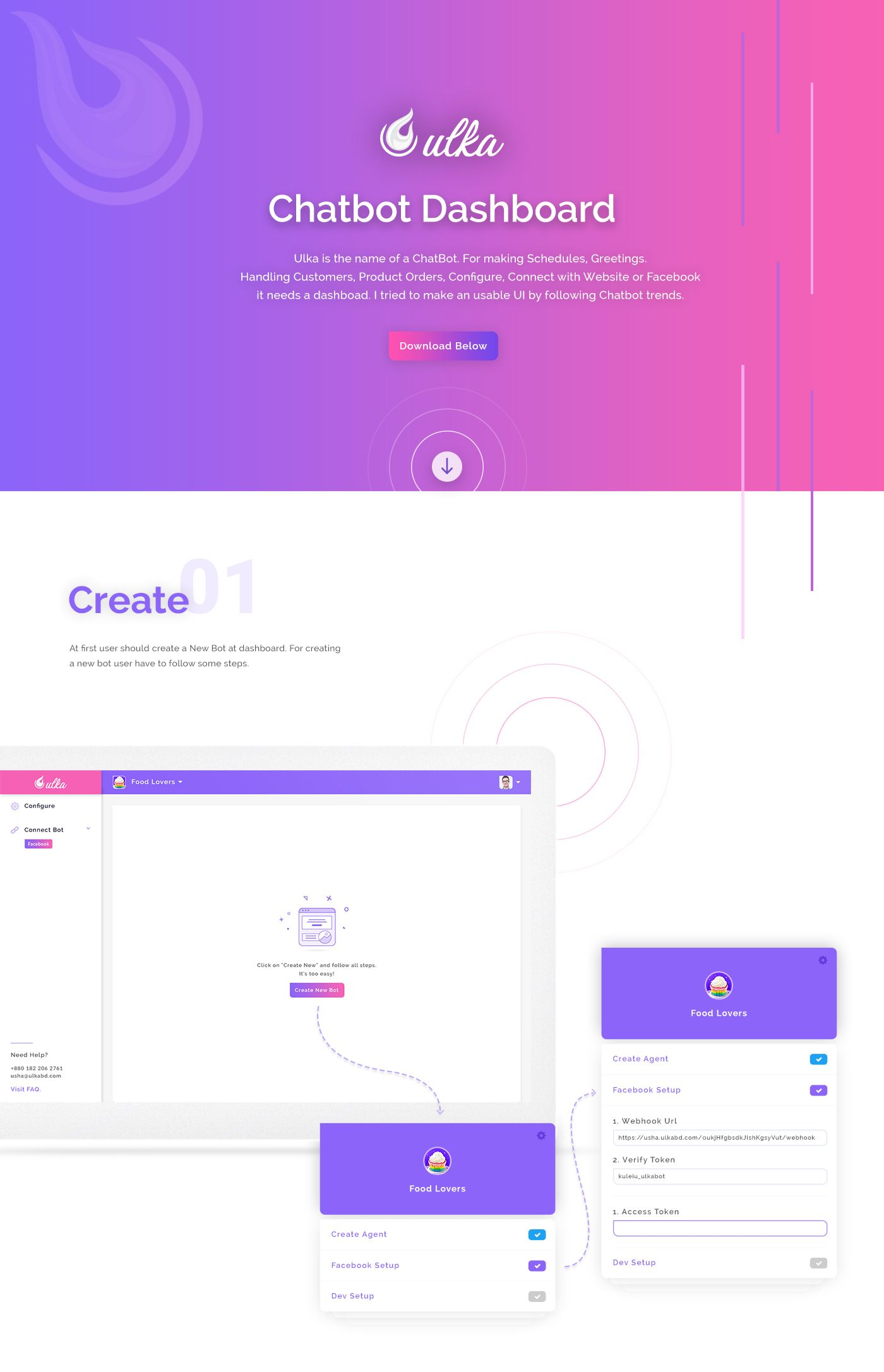 Chatbot Dashboard UI Kit PSD | UI Kits, Web & App Templates Freebies
