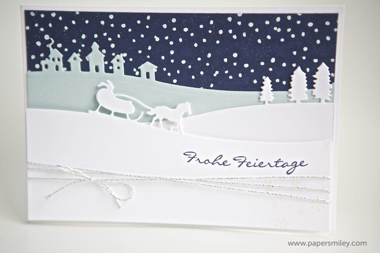 weihnachtskarte mit den edgelits von stampin up. Black Bedroom Furniture Sets. Home Design Ideas