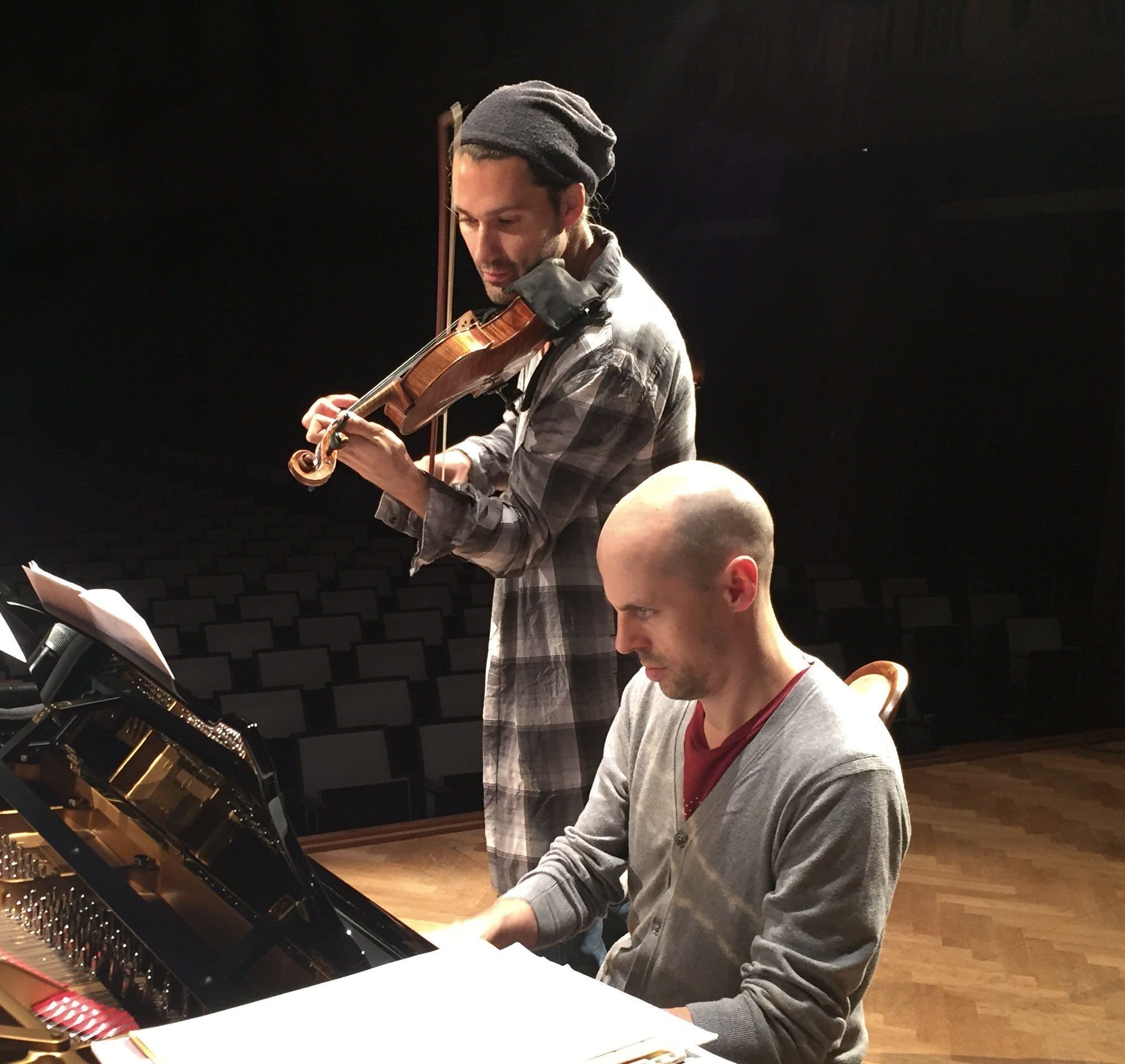 """David Garrett on Twitter: """"Rehearsal in Bad Kissingen with my friend and longtime pianist-partner @julienquentin https://t.co/cWPwTeaLBi"""""""
