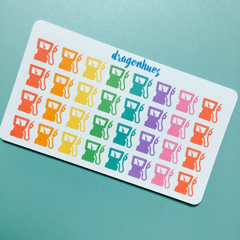 B50 Fuel / Gas Pump Planner Stickers for Erin Condren, Day Designer, Filofax planners