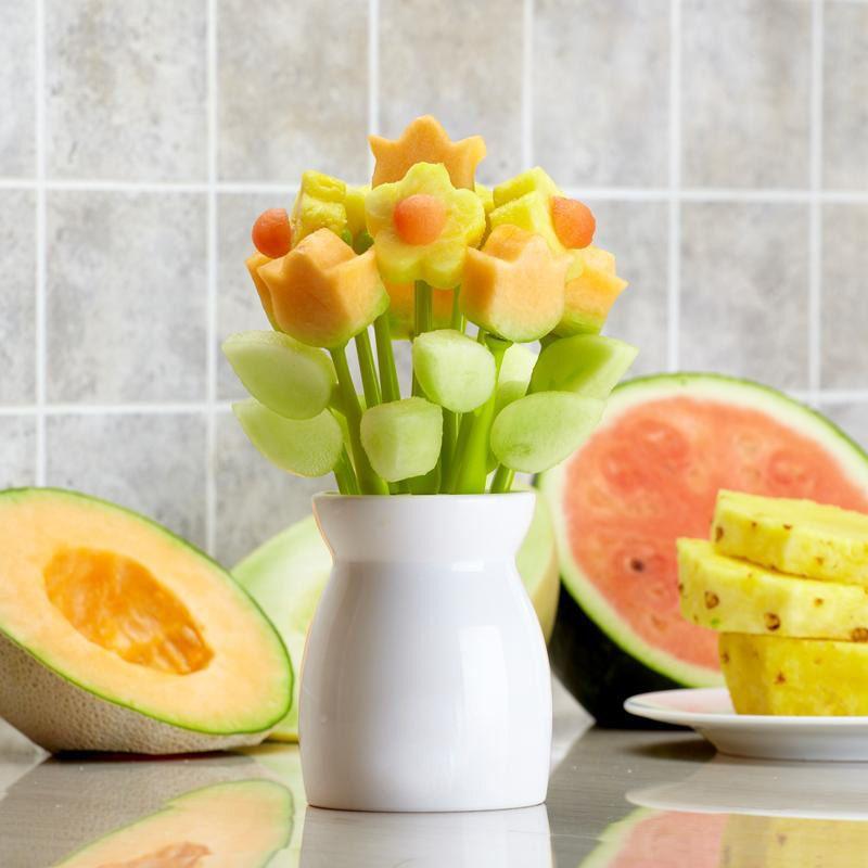 美国代购 制作独一无二的水果插花 水果叉/签 切割模具套装-淘宝网