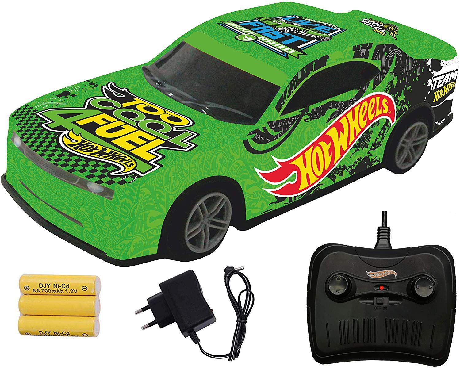 Hot Wheels Remote Control Rechargeable Racing Car,Green