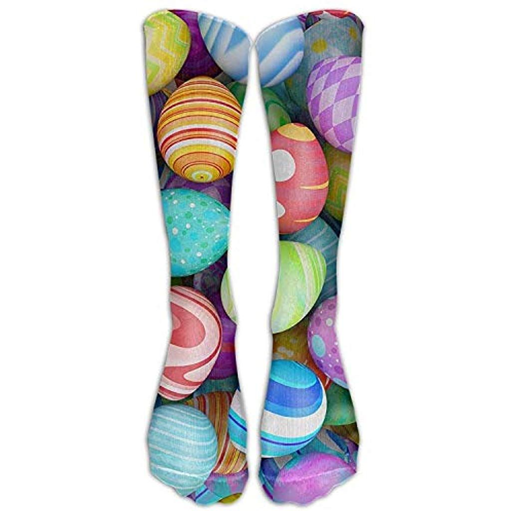 Long Dress Socks Colorful Beautiful Easter Eggs Sport Comfortable Breathable OvertheCalf Tube