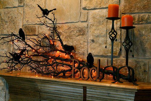 33 Halloween Decorating Ideas Enhanced with Black Colors and Lights