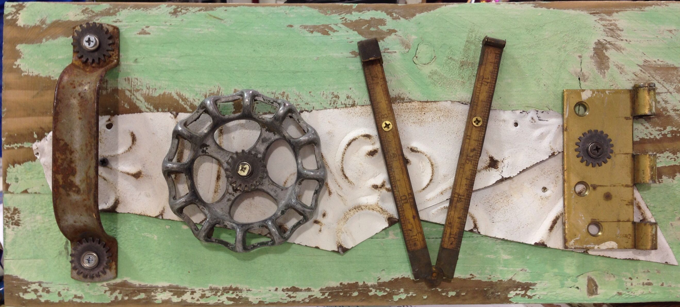 Junk Chic 5280 Love Sign Made From Salvaged Hardware Bar Wood