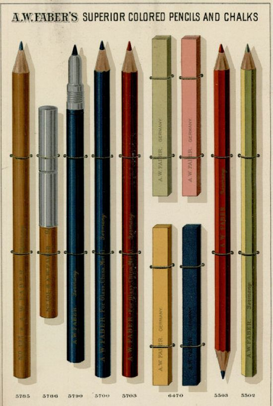 B I Literally Gasped When I Saw These Lithographed Renderings From A W Faber S Late 19th Century Catalog Of P Vintage Advertising Art Pencil Vintage Graphics
