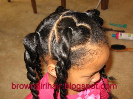 Brown Girls Hair Valentine S Day Natural Hair Style Lil Girl Hairstyles Hair Styles Girl Hairstyles