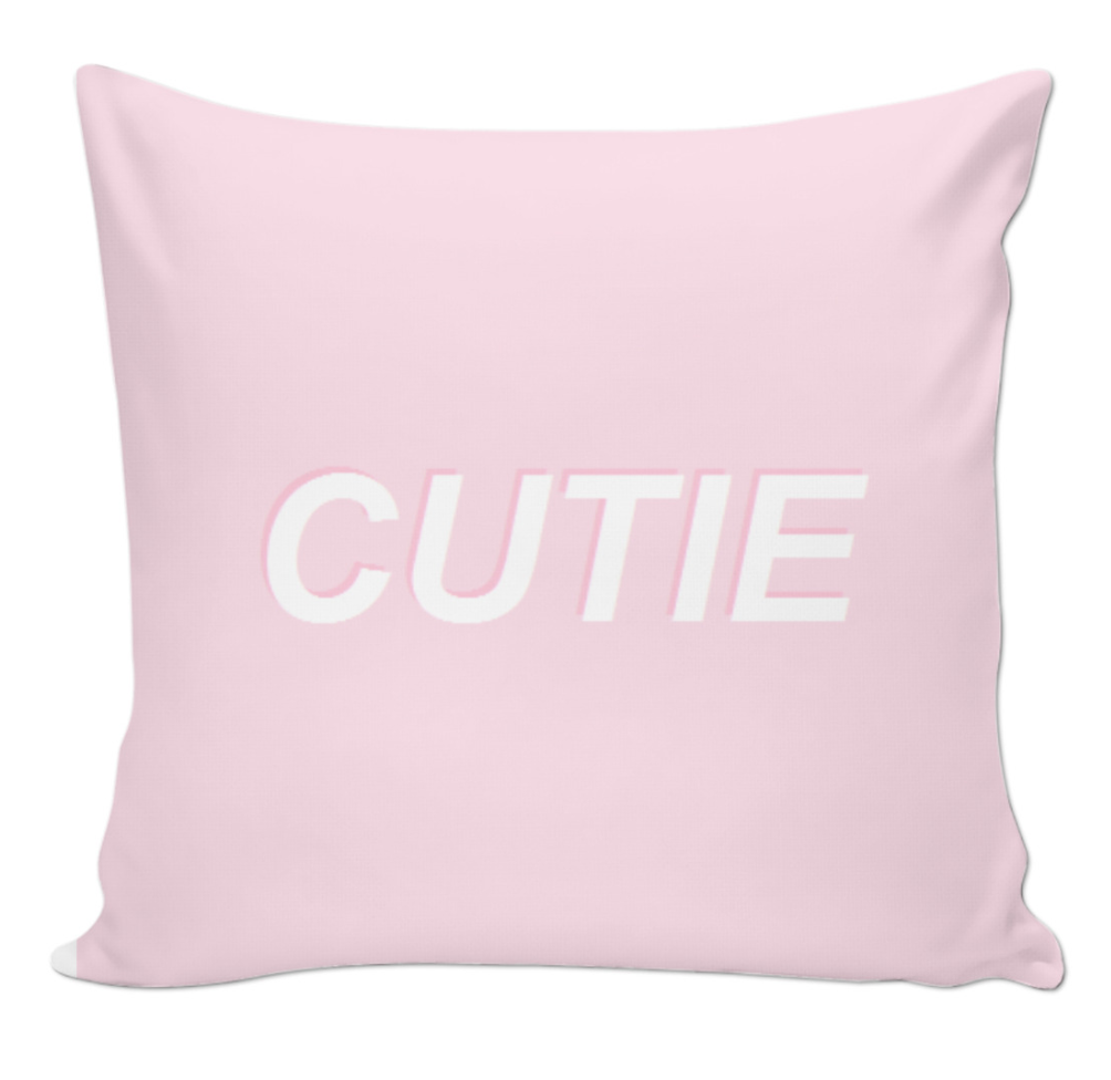 Cutie Pink Aesthetic Tumblr Pillow | Pink aesthetic, Cute ...