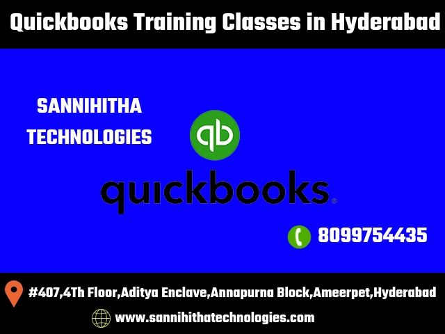 Learn Quickbooks Training In Hyderabad By Experienced Faculty In