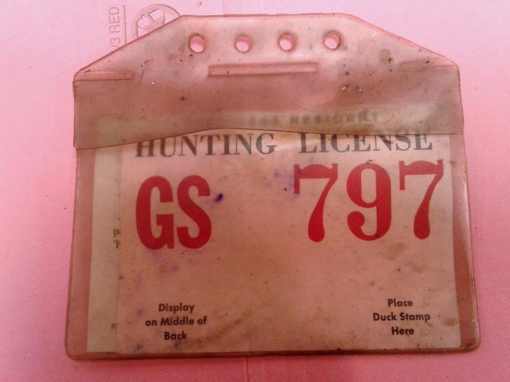 1953 Vintage OHIO HUNTING License Permit & Holsee Vinyl