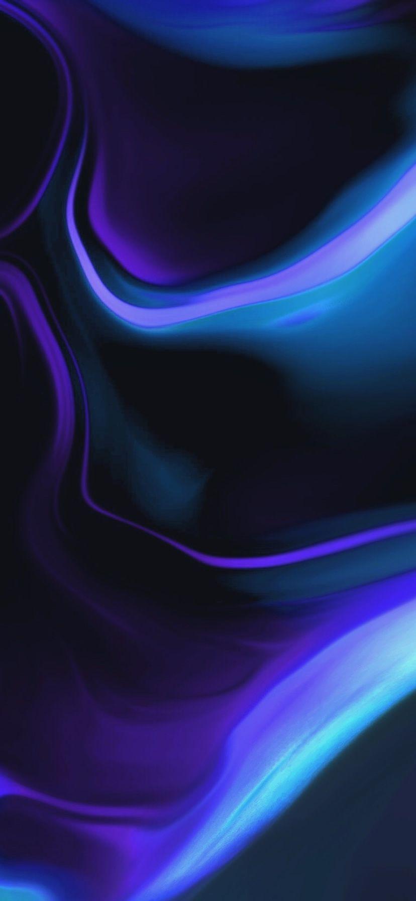 抽象的な波パープルブルーiphonexr壁紙 828 1792 Iphone 用壁紙