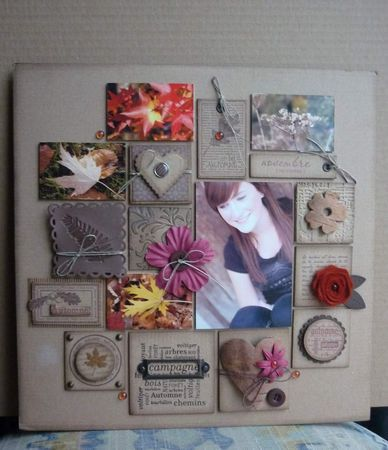 Different size squares.... Could be an altered canvas or a layout