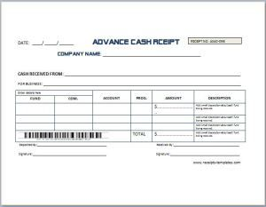 Advance Cash Receipt Template at receipts-templates.com ...
