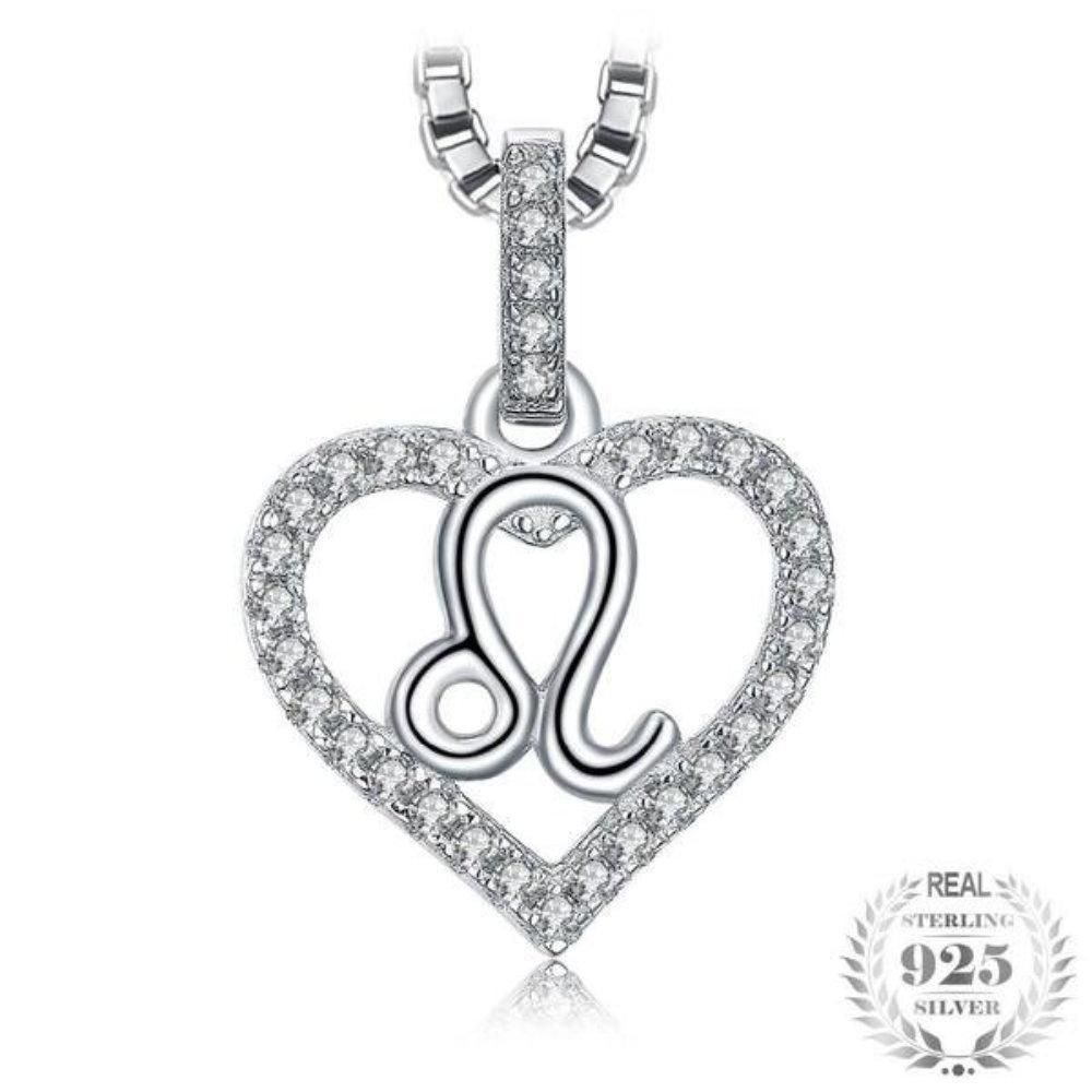 Leo astrology zodiac sign ct cubic zirconia sterling silver