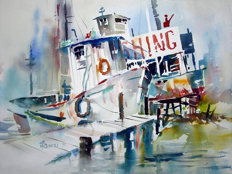 By Hal Mccaskil Original Watercolors Watercolor Art