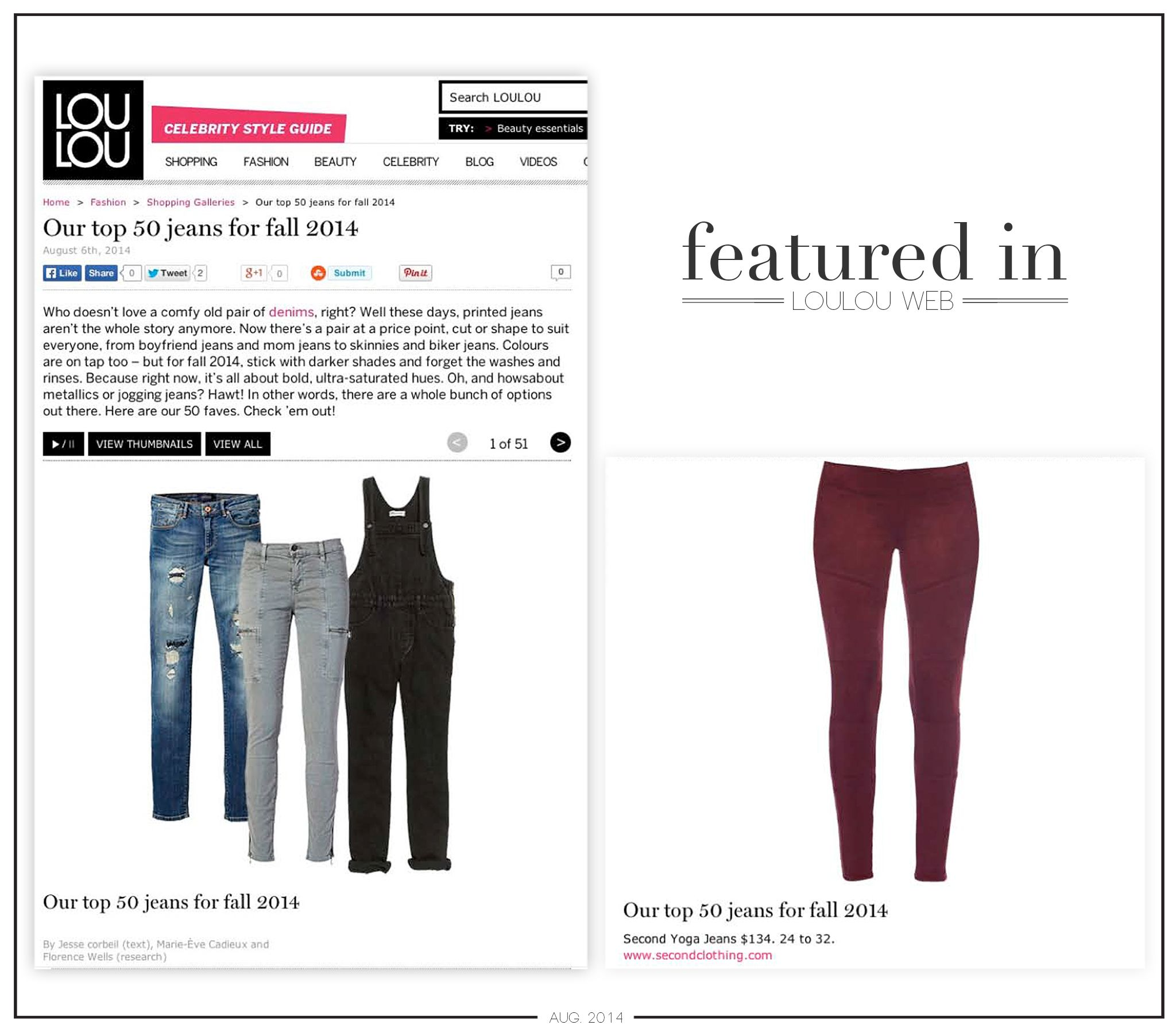 Featured In: Loulou Magazine Web - August 2014 Redwood Suede Moto Yoga Jeans™