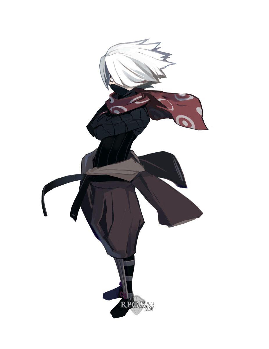White Ninja Hair  Anime character design, Ninja art, Character art
