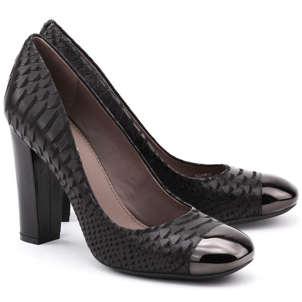 Geox da donna marroncino pelle marrone tacco medio Scarpe da ufficio da sera