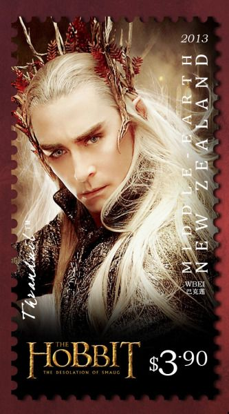 Lee pace the hobbit stamp.