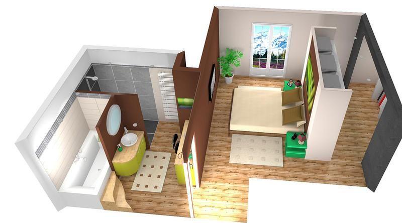 R sultat de recherche d 39 images pour chambre avec dressing et salle de bain 3d chambre avec - Dressing dans salle de bain ...