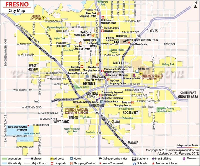 Fresno Map California California Maps Pinterest Fresno - A map of california cities