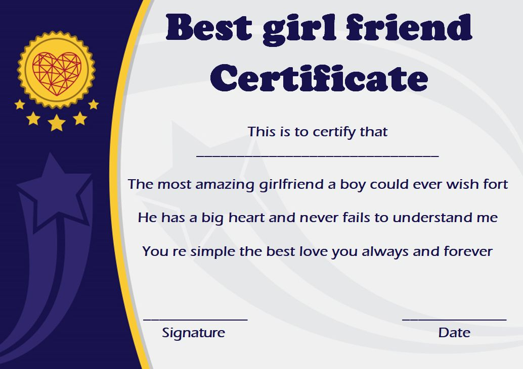 Surprise Your Girlfriend Using These 16 Best Girlfriend Certificate Templates Template Sumo Surprise Your Girlfriend Award Template Certificate Templates