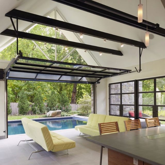Wowza Love The Pool And Garage Door Idea Except I Would Put The