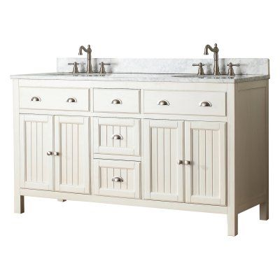 Avanity Hamilton Vs60 Fw Hamilton 60 In Double Bathroom Vanity Without Top Hamilton V60 Fw With Images Double Vanity Bathroom 60 Inch Vanity Bathroom Vanity
