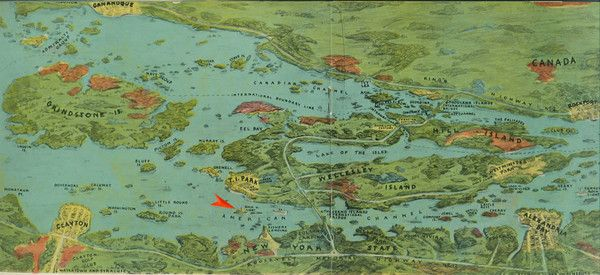 thousand islands new york map Thousand Islands Map Wellesley Island Illustrated Map Ny Map