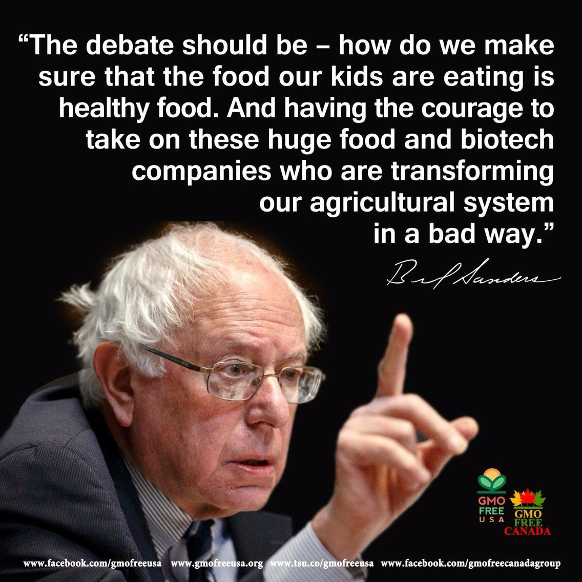 Bernie Sanders Calls Out Monsanto and Vows to Protect