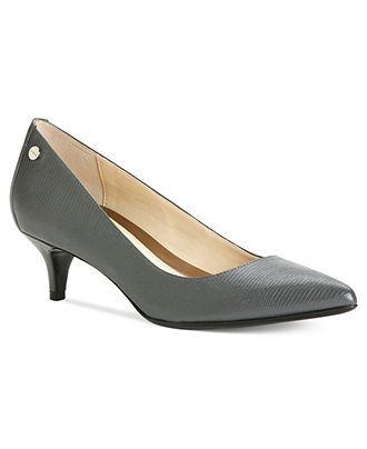 Calvin Klein Women's Shoes, Nicki Kitten Heel Pumps Shoes