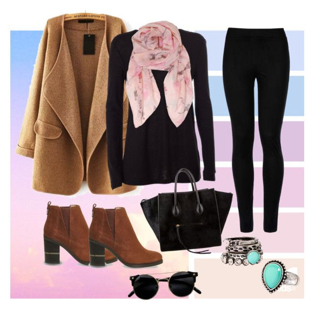 """""""Hip."""" by thisisroxii on Polyvore featuring moda, T By Alexander Wang, Wolford, Office, CÉLINE, Humble Chic y Arizona"""