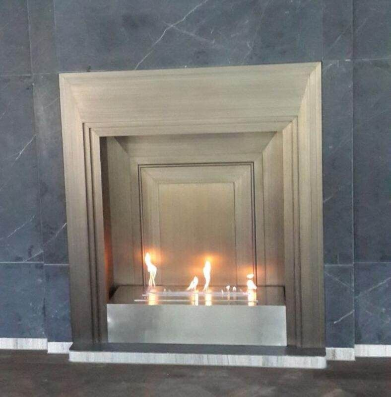 On Sale 48 Inch Lareira Stainless Steel Bio Ethanol Fireplace In