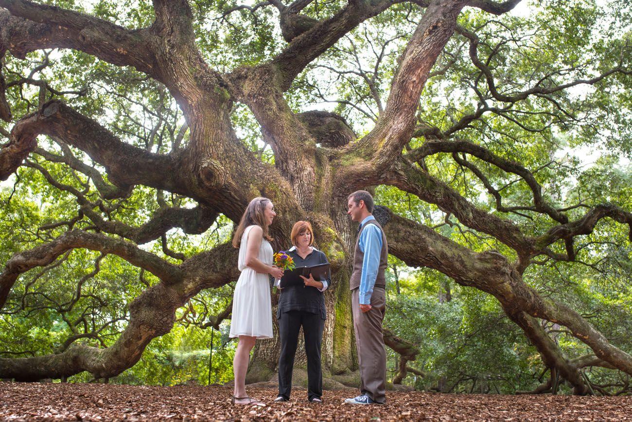 Angel Oak Tree Elopement Charleston Sc