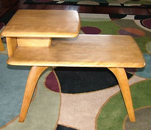 4255085fb 2 tier Heywood Wakefield end table. This is the same as the one I purchased  a few months ago.