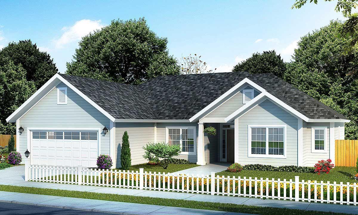 Plan 52200WM Split Bedroom Ranch Home Plan Ranch house