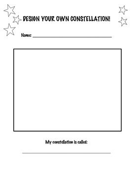 Create Your Own Constellation | Classroom Ideas! | Pinterest ...