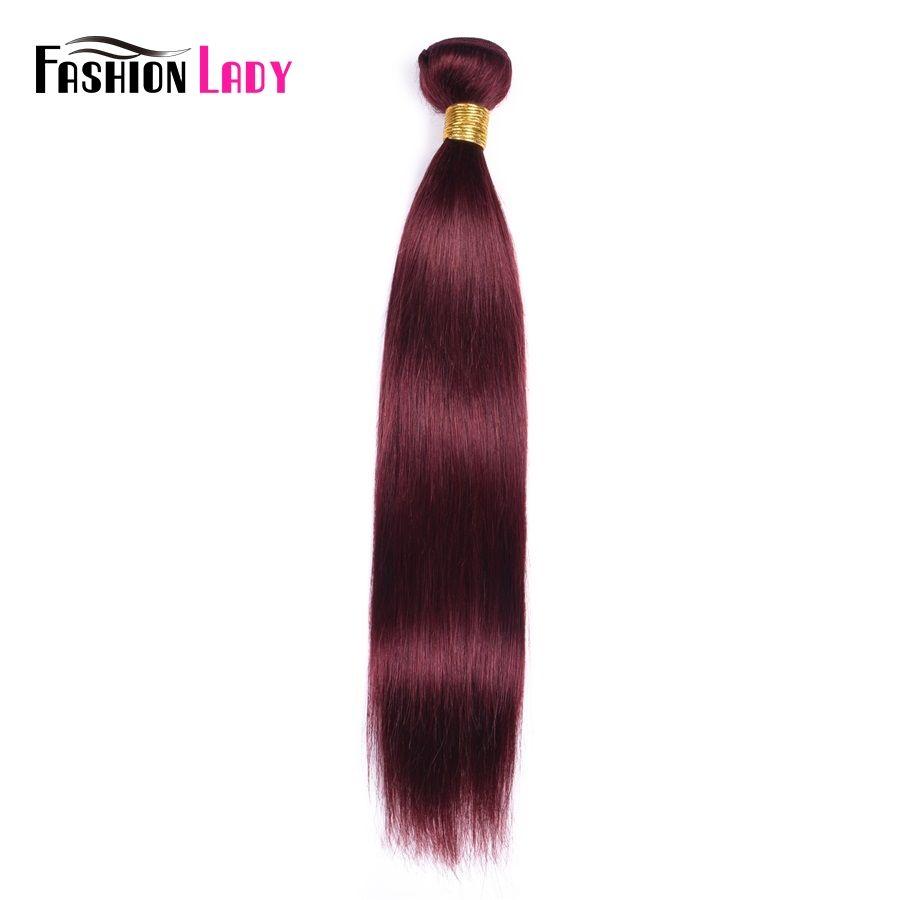 Fashion Lady Pre Colored Brazilian Hair Weave Bundles Straight Hair