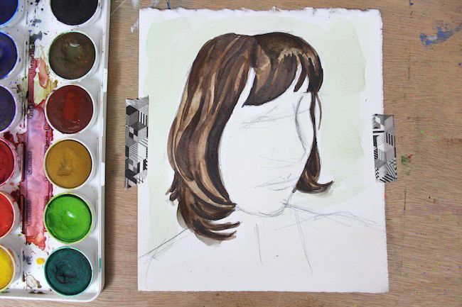Learn How To Paint Watercolor Hair In 5 Easy Steps Watercolour