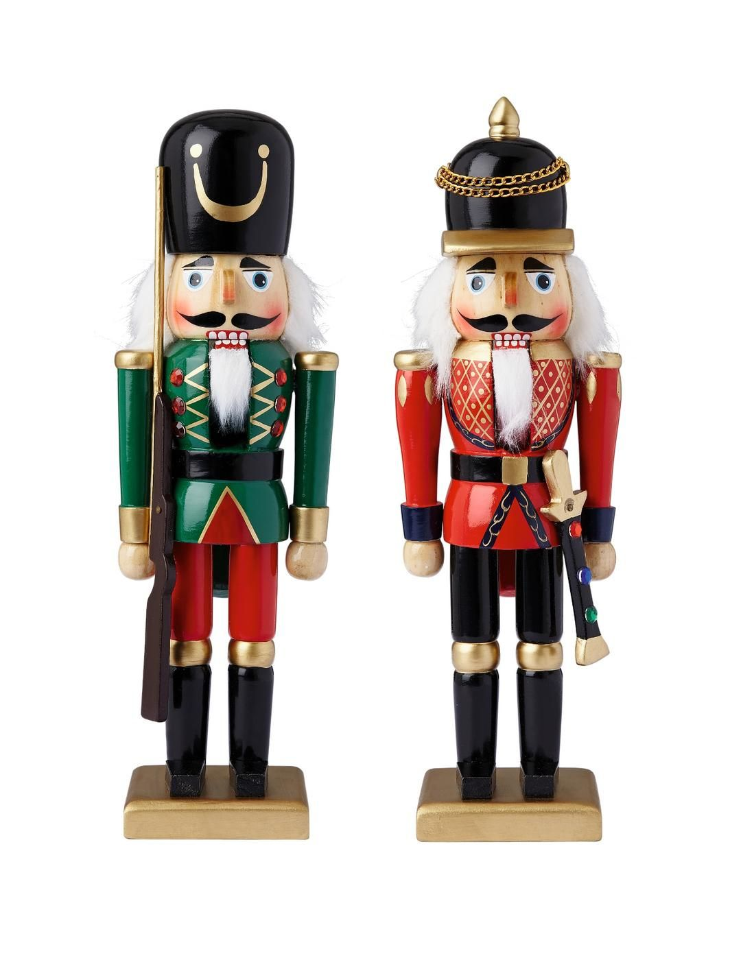 Wooden Nutcracker Soldiers Christmas Decorations (2 Pack ...