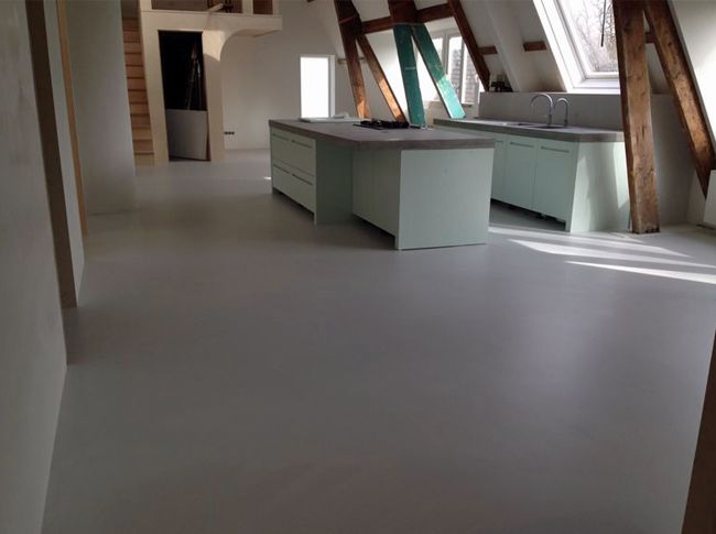 Pu betonlook gietvloer beton look pinterest flooring und interior