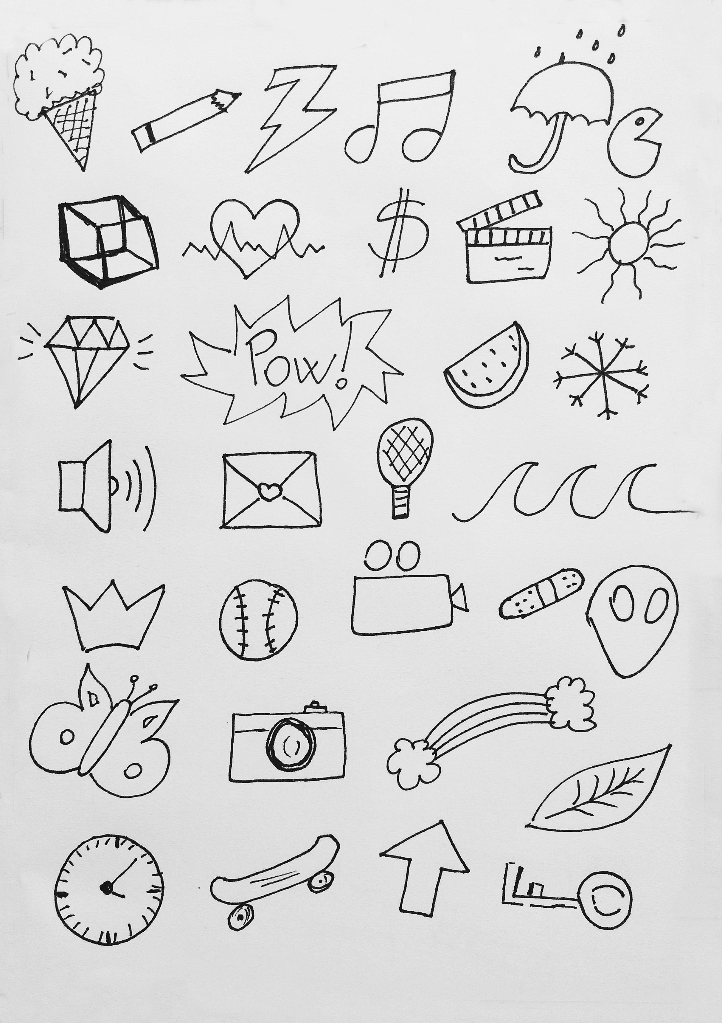 Прикольные рисунки для лето для украшения карандашом