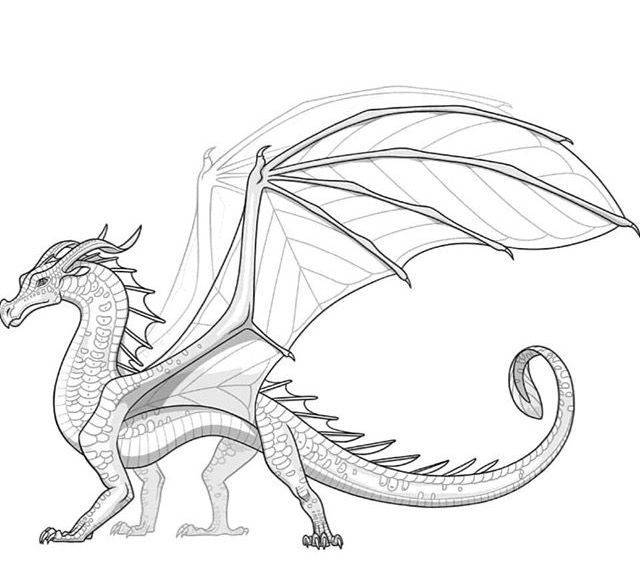 Wings of fire dragon coloring pages ~ Extinct Wings of Fire dragon species, the Leafwings ...