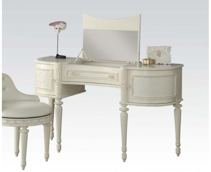 Dorothy Ivory Vanity Desk 30370 Vanity desk, Vanities and Desks - Bedroom Vanity Table