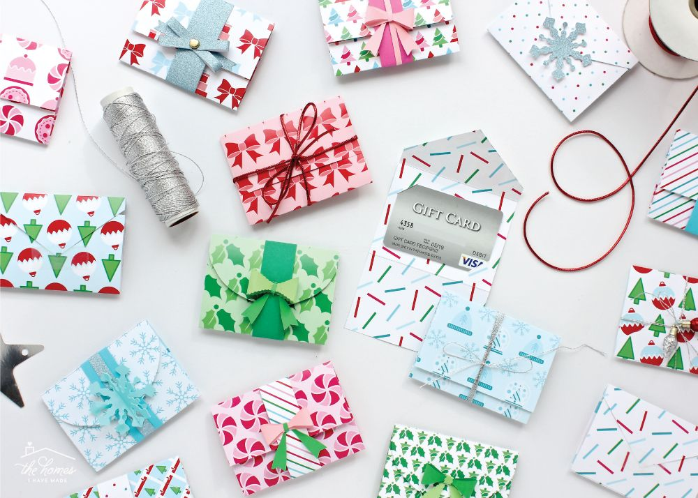 Diy gift card holders with printable template gift