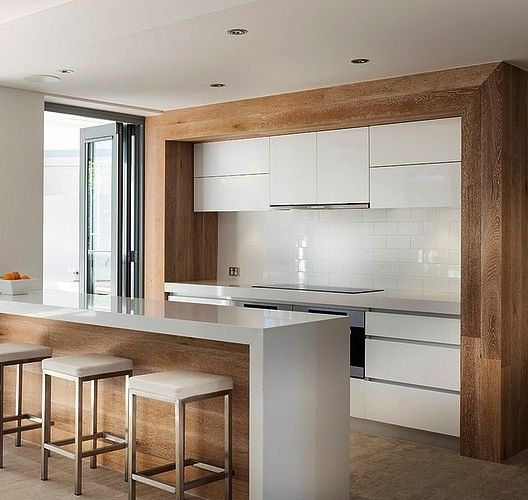 Best Timber Feature Kitchen Ozone Residence By Swell Homes 400 x 300