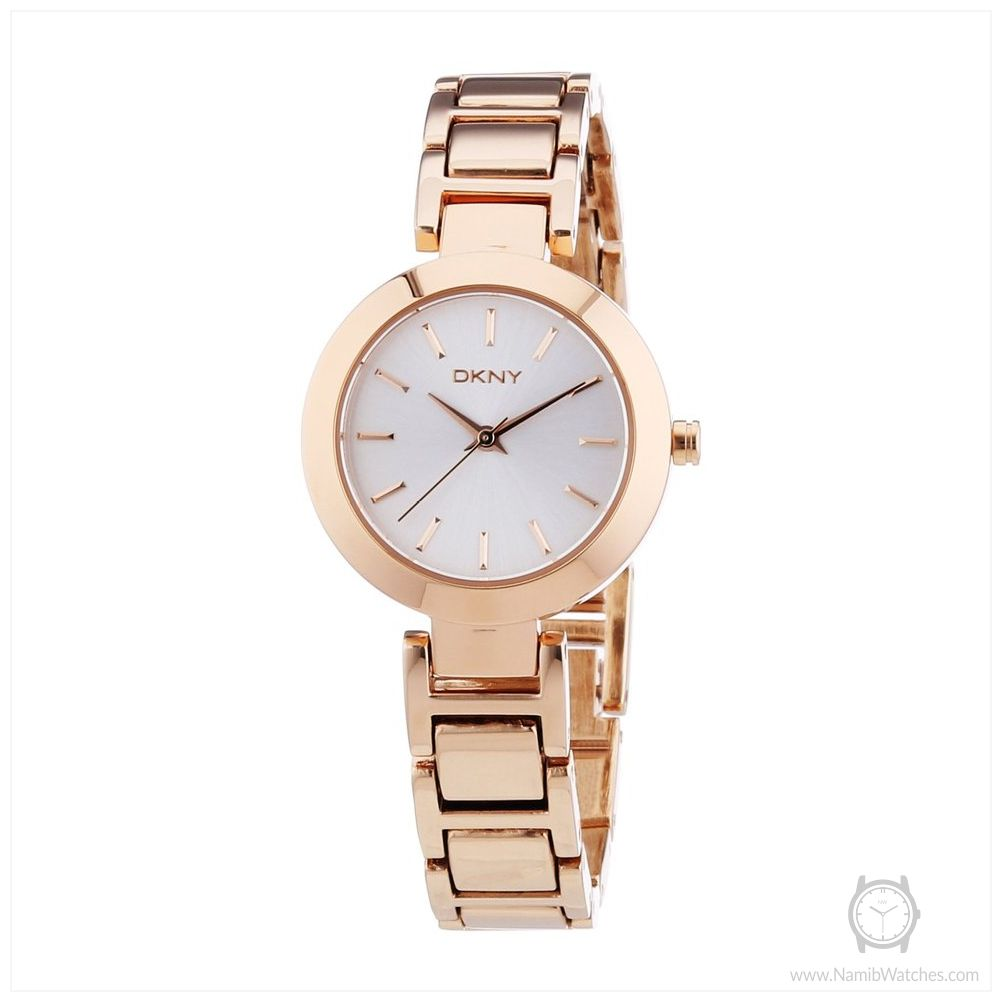 DKNY Silver Dial Rose Gold Tone Stainless Steel Ladies Watch NY8833 ... 2304d55f712