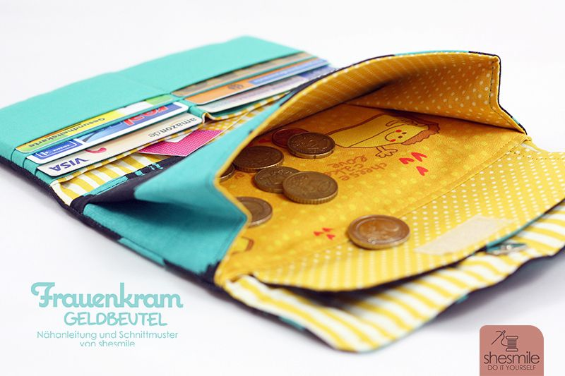 1d45d5b769298 Ein Geldbeutel Frauenkram aus ANVÄNDBAR von IKEA (Nähanleitung und  Schnittmuster von shesmile)